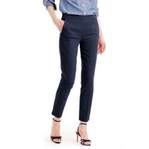 J. Crew Martie Slim Crop Pant In Bi-stretch Cotton
